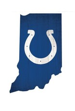 FAN CREATIONS Indianapolis Colts Team Logo State Sign