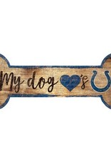 FAN CREATIONS Indianapolis Colts Dog Bone Sign