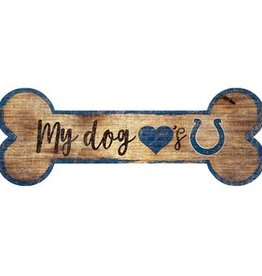 FAN CREATIONS Indianapolis Colts Dog Bone Wood Sign