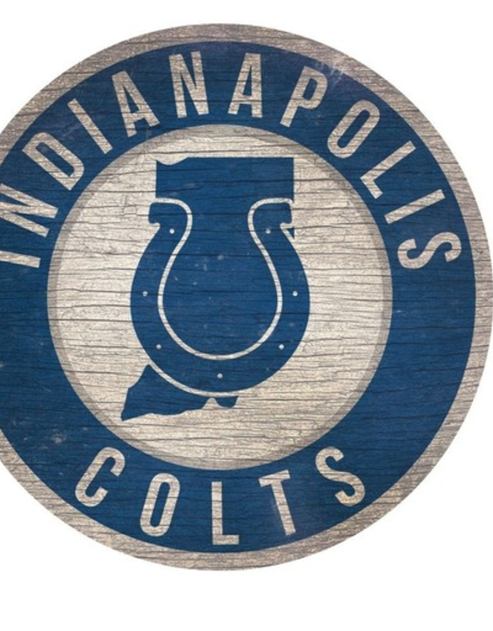 FAN CREATIONS Indianapolis Colts Round State Sign
