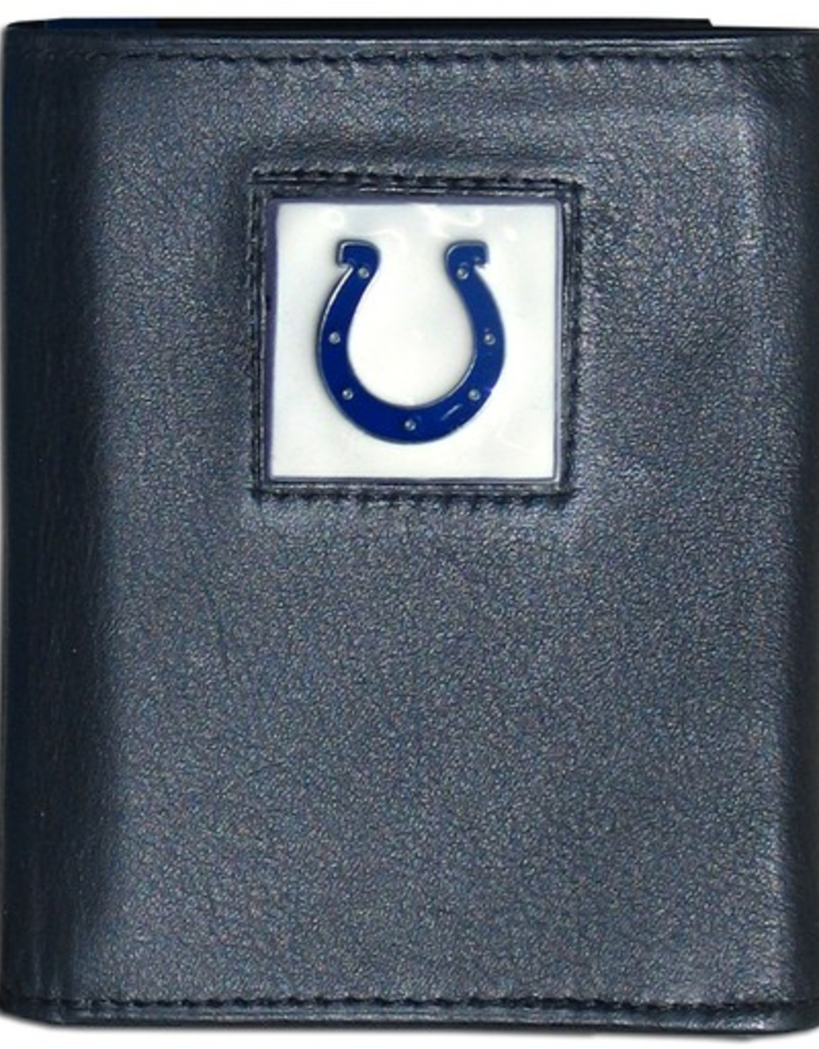 SISKIYOU GIFTS Indianapolis Colts Executive Black Leather Trifold Wallet