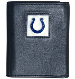 Indianapolis Colts Executive Black Leather Trifold Wallet