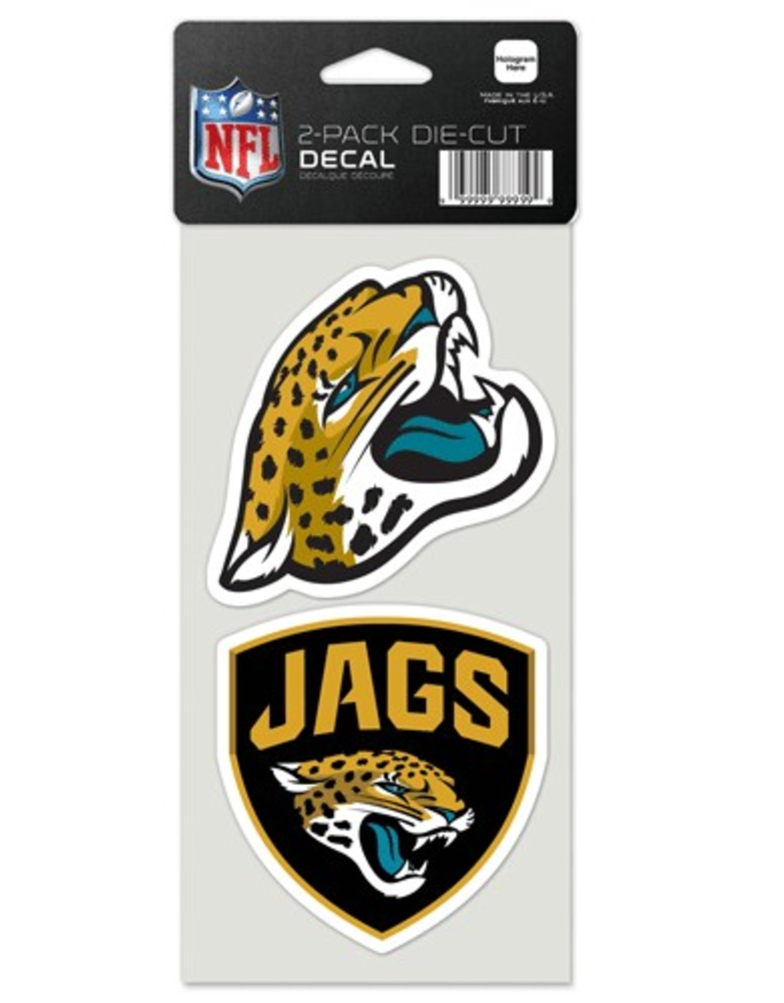 Jacksonville Jaguars Set of Two 4x4 Perfect Cut Decals