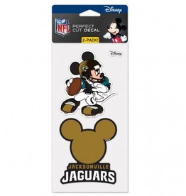 WINCRAFT Jacksonville Jaguars Set of Two DISNEY 4x4 Perfect Cut Decals