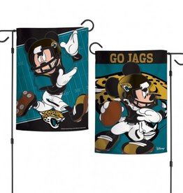 "WINCRAFT Jacksonville Jaguars Disney Mickey Mouse 12.5"" x 18"" Garden Flag"