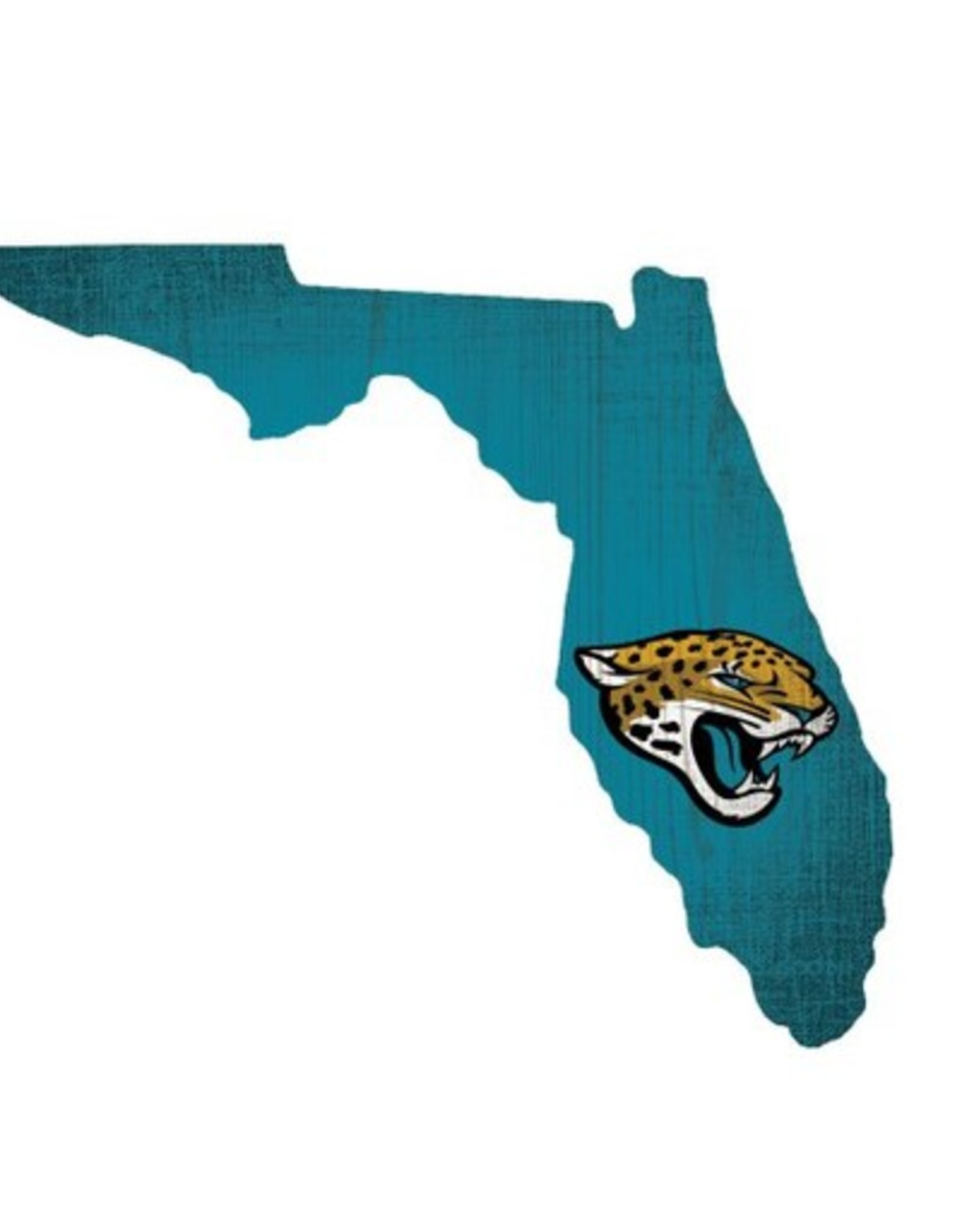 FAN CREATIONS Jacksonville Jaguars Team Logo State Sign