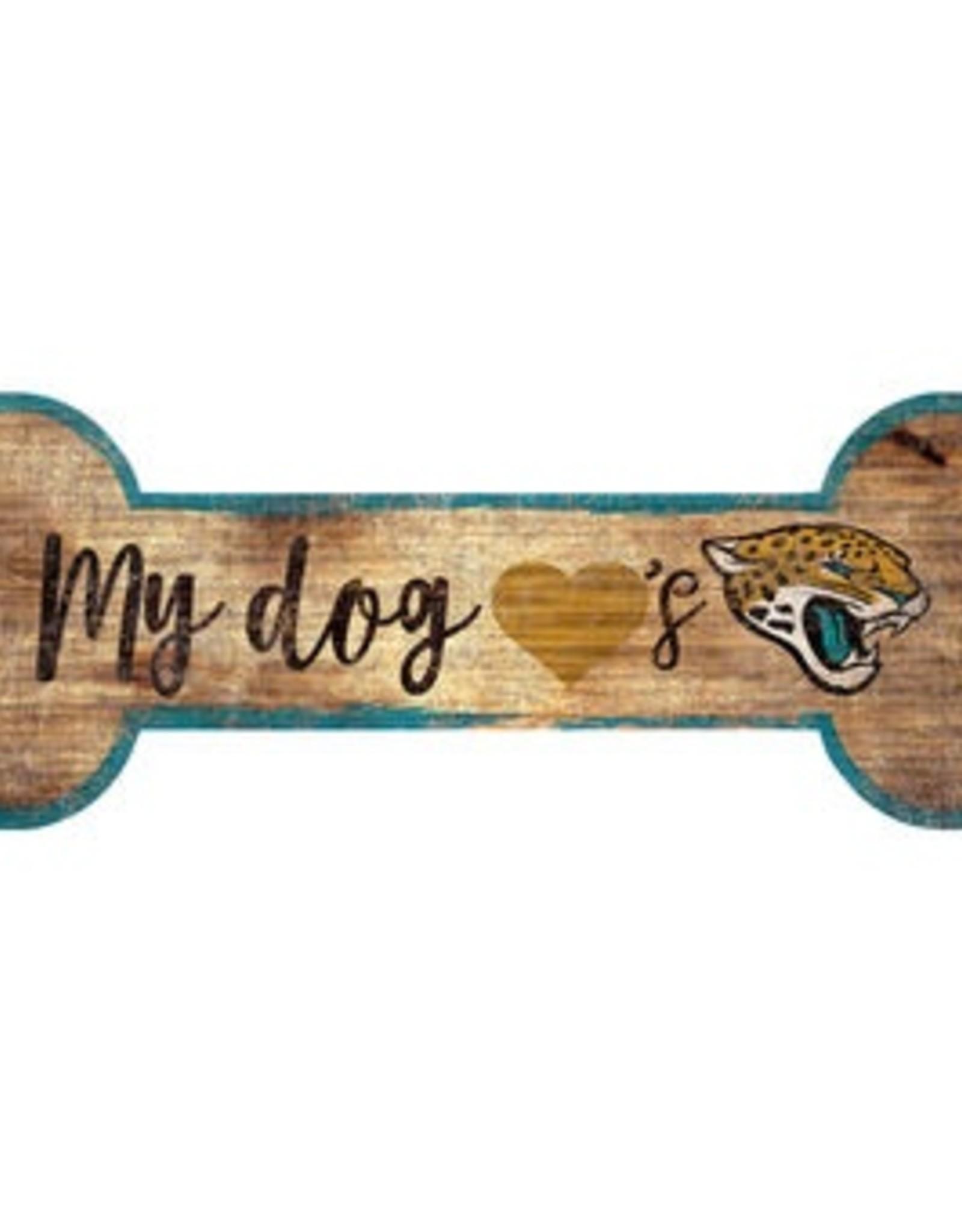 FAN CREATIONS Jacksonville Jaguars Dog Bone Wood Sign