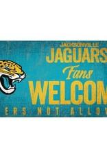 FAN CREATIONS Jacksonville Jaguars Fans Welcome Sign