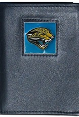 Jacksonville Jaguars Executive Black Leather Trifold Wallet