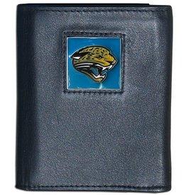 SISKIYOU GIFTS Jacksonville Jaguars Executive Black Leather Trifold Wallet