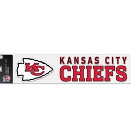 """WINCRAFT Kansas City Chiefs 4""""x17"""" Perfect Cut Decals"""