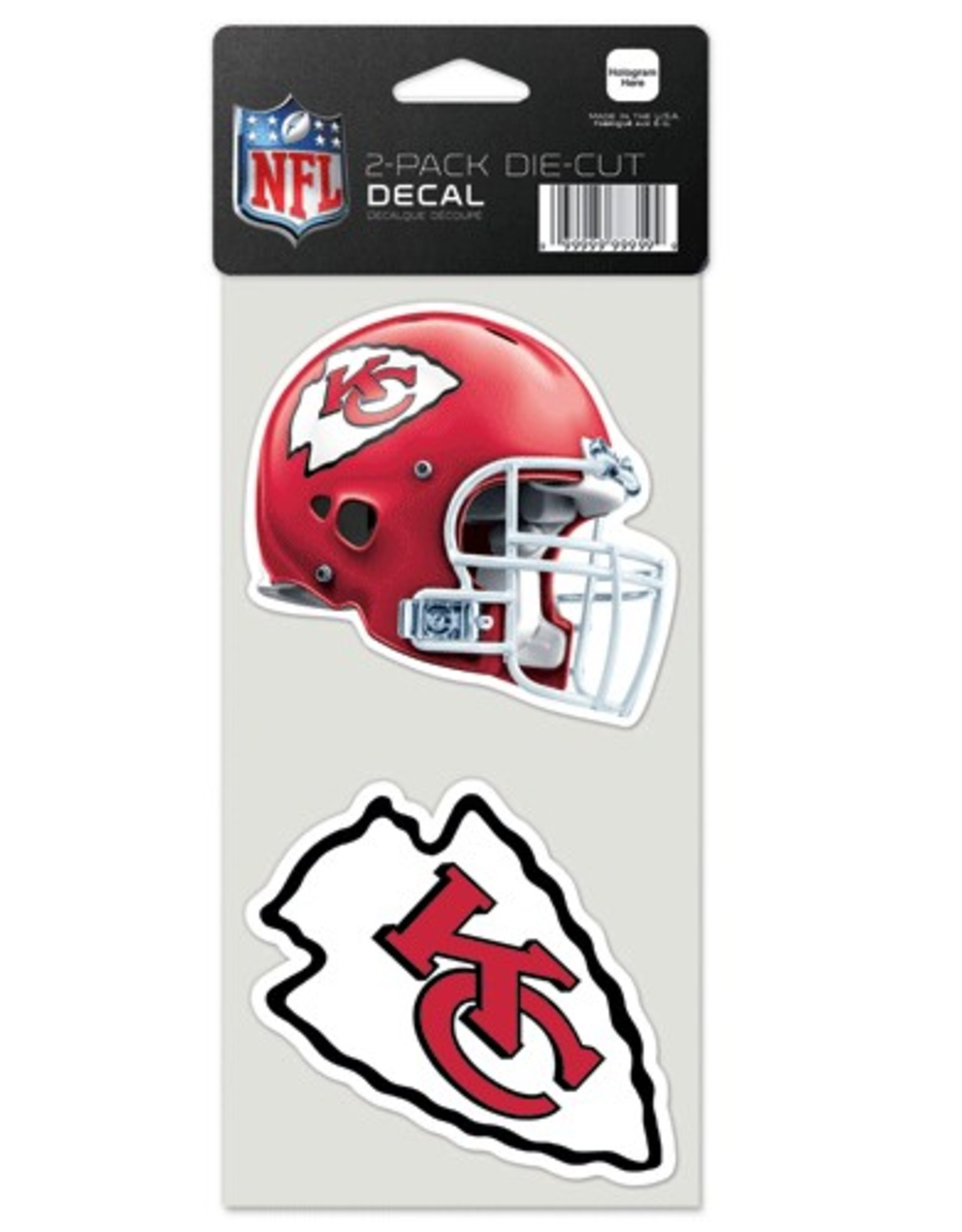 Kansas City Chiefs Set of Two 4x4 Perfect Cut Decals