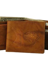 RICO INDUSTRIES Jacksonville Jaguars Genuine Leather Vintage Billfold Wallet