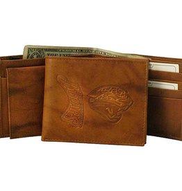 Jacksonville Jaguars Genuine Leather Vintage Billfold Wallet