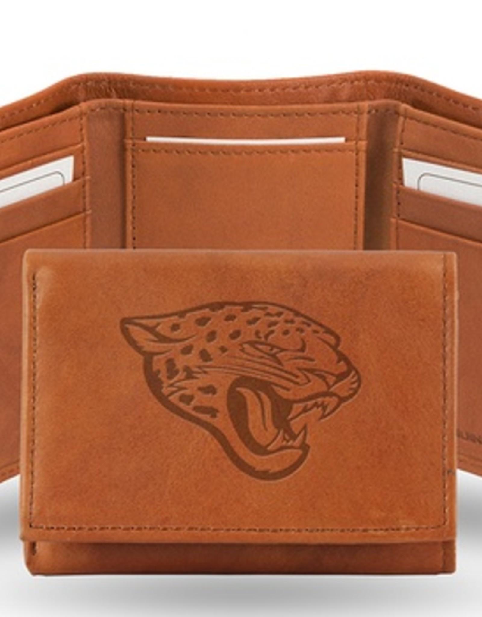 RICO INDUSTRIES Jacksonville Jaguars Genuine Leather Vintage Trifold Wallet