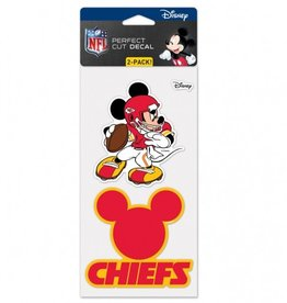WINCRAFT Kansas City Chiefs Set of Two DISNEY 4x4 Perfect Cut Decals