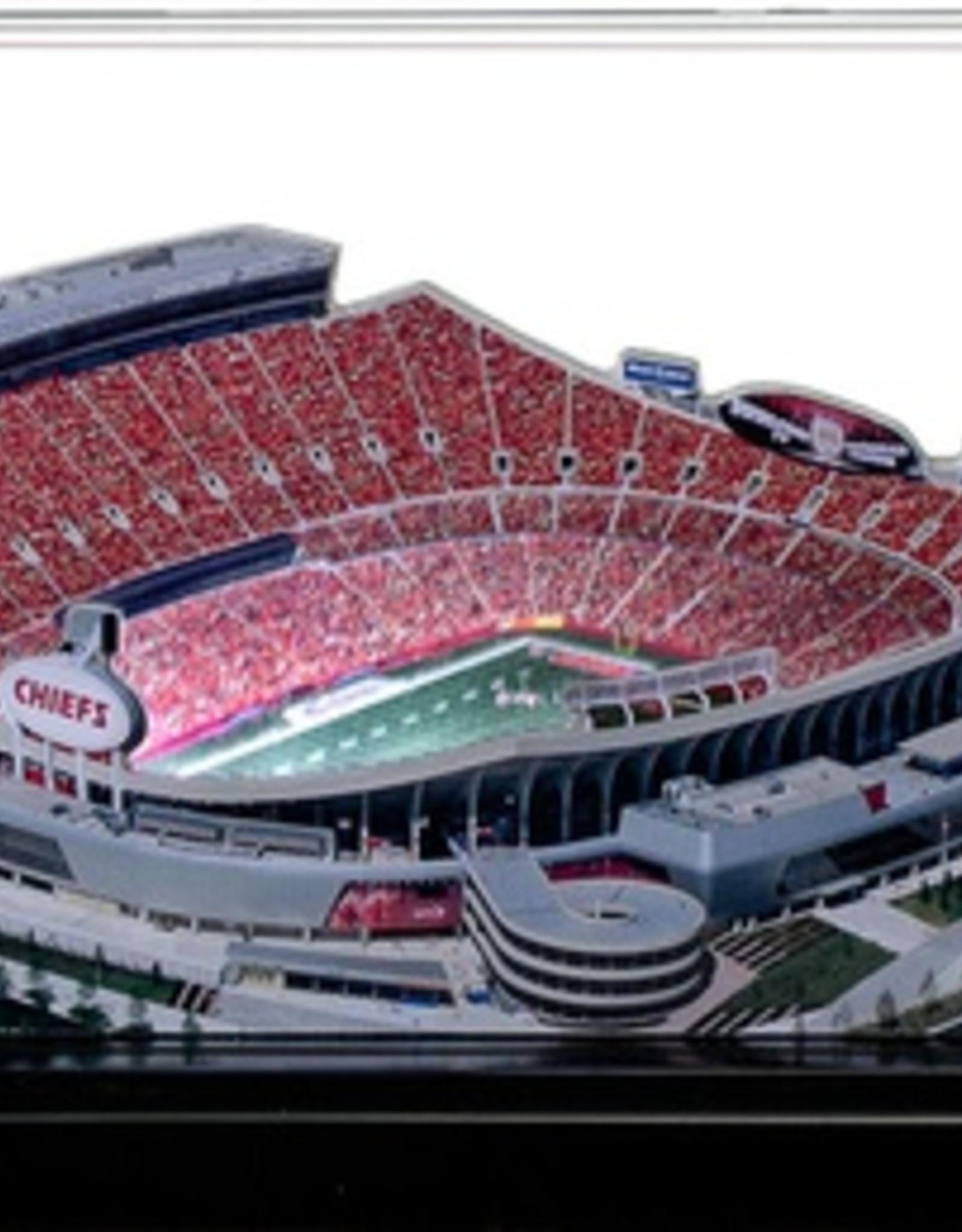HOMEFIELDS Kansas City Chiefs 9in Lighted Replica Arrowhead Stadium
