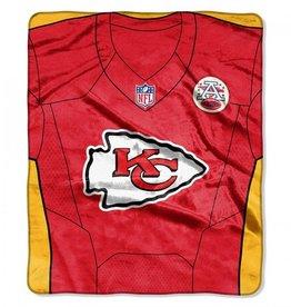 "Kansas City Chiefs 50in x 60in NFL ""Jersey"" Royal Plush Raschel Throw"