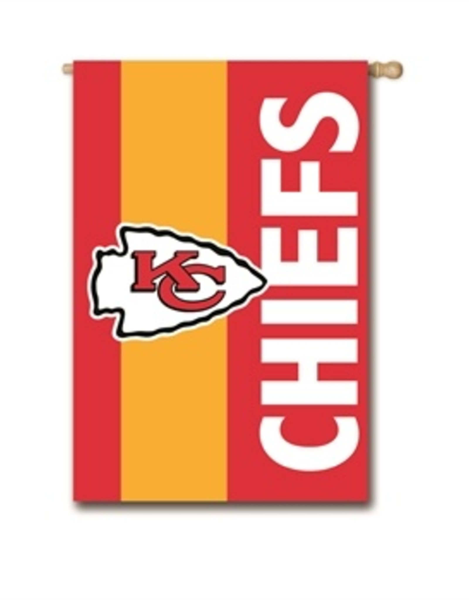 "EVERGREEN Kansas City Chiefs 28"" x 44"" Striped House Flag"