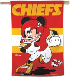 "WINCRAFT Kansas City Chiefs Disney Mickey Mouse 28"" x 40"" House Flag"