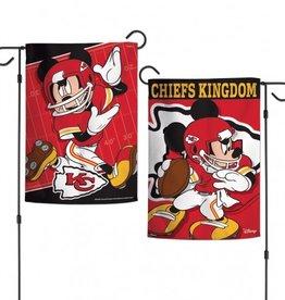 "WINCRAFT Kansas City Chiefs Disney Mickey Mouse 12.5"" x 18"" Garden Flag"
