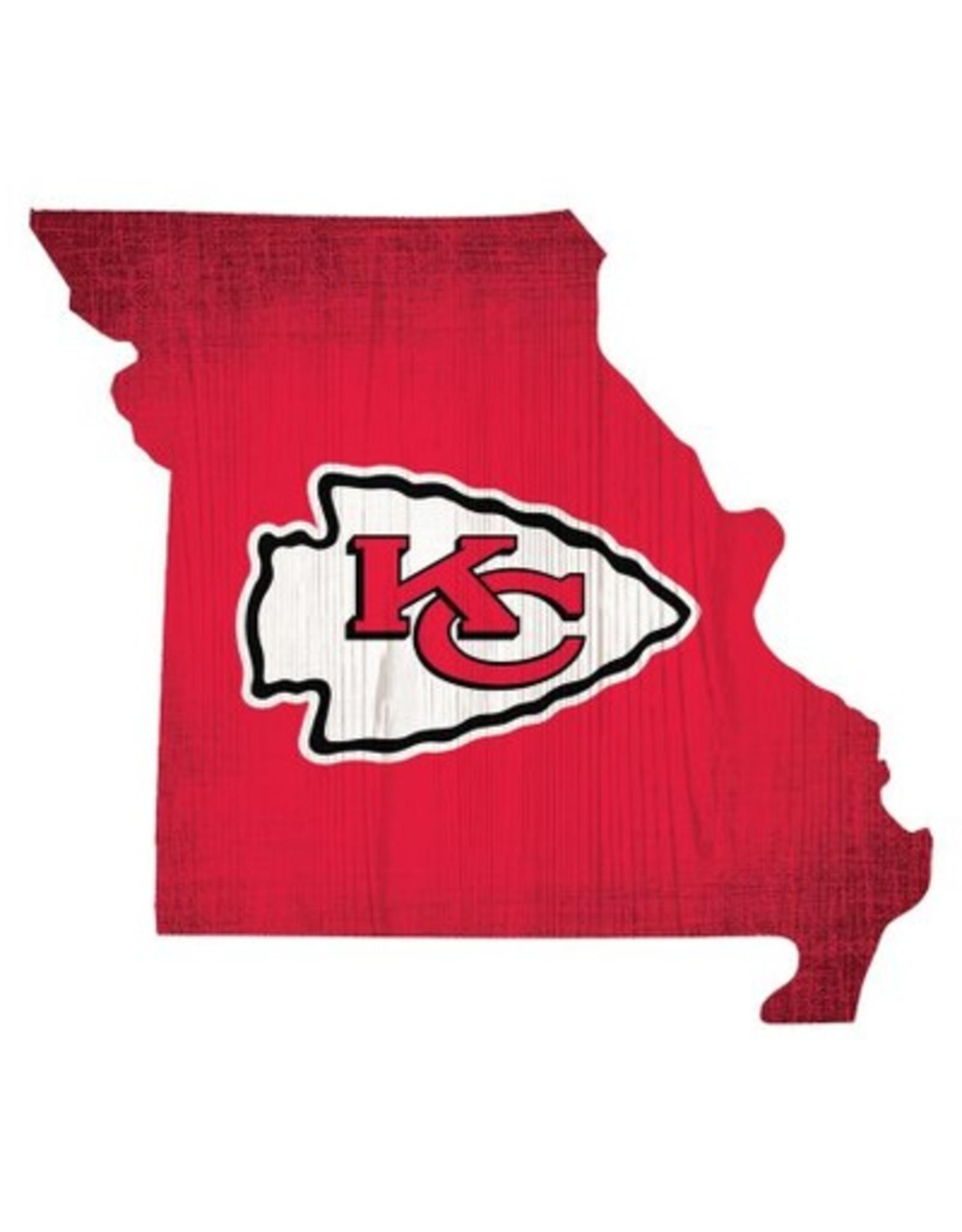 FAN CREATIONS Kansas City Chiefs Team Logo State Sign