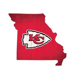 FAN CREATIONS Kansas City Chiefs Team Logo State Sign