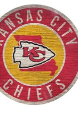 FAN CREATIONS Kansas City Chiefs Round State Sign