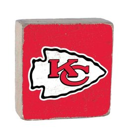 RUSTIC MARLIN Kansas City Chiefs Rustic Wood Team Block