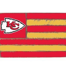 RUSTIC MARLIN Kansas City Chiefs Rustic Team Flag