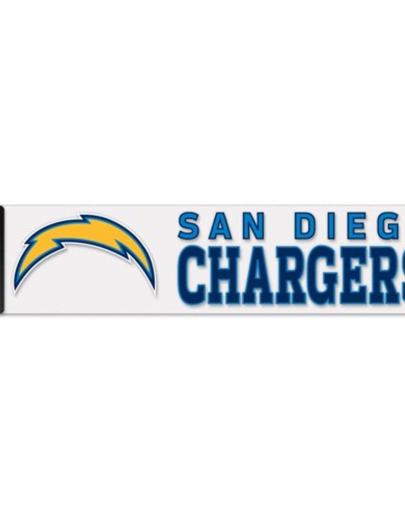 """WINCRAFT Los Angeles Chargers 4""""x17"""" Perfect Cut Decals"""