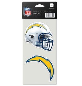 San Diego Chargers Set of Two 4x4 Perfect Cut Decals
