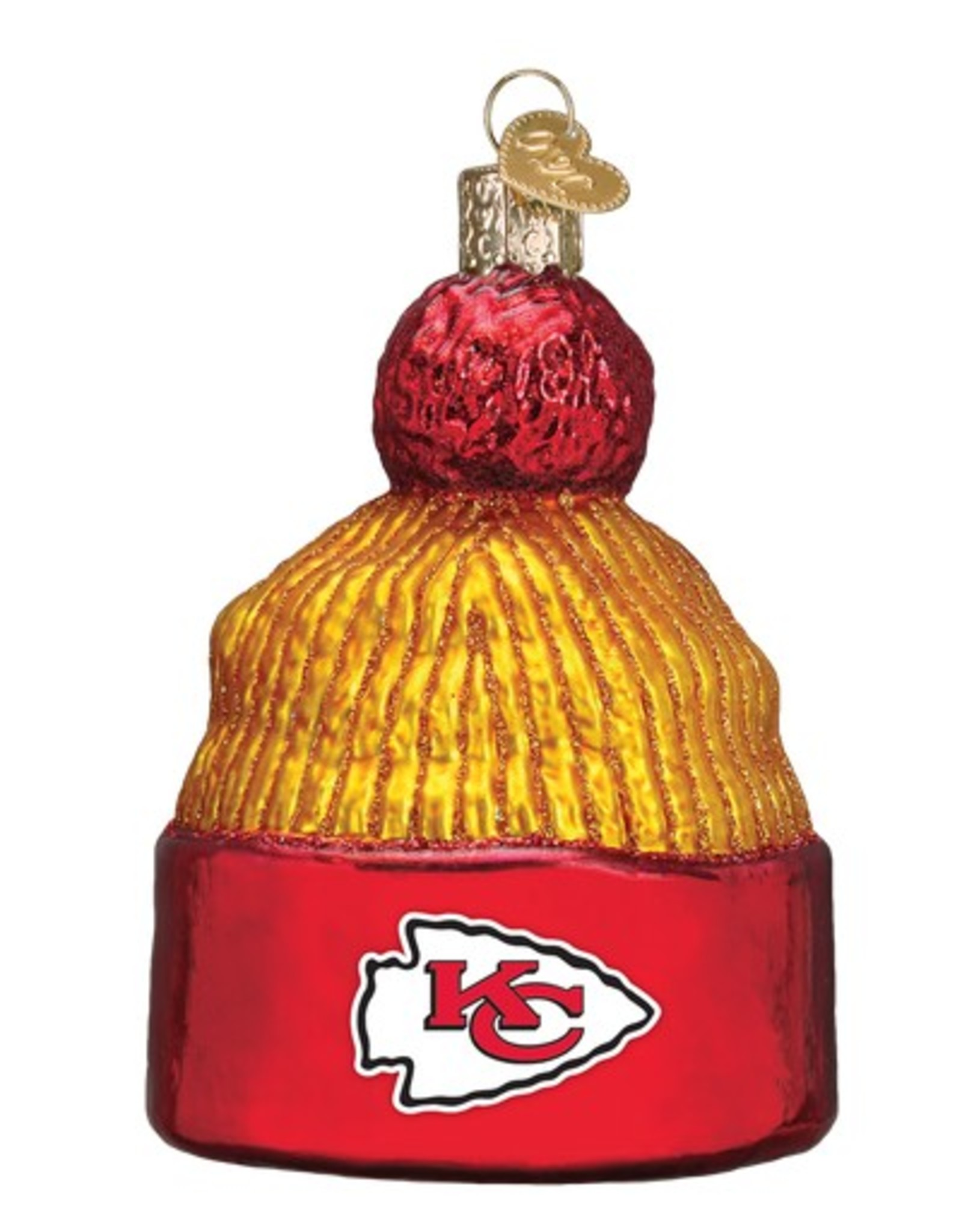 OLD WORLD CHRISTMAS Kansas City Chiefs Beanie Ornament