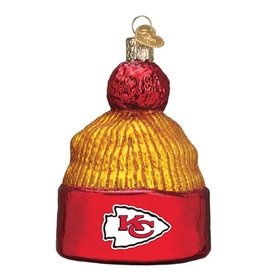 OLD WORLD CHRISTMAS Kansas City Chiefs Beanie Ornament