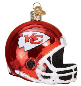 OLD WORLD CHRISTMAS Kansas City Chiefs Helmet Ornament