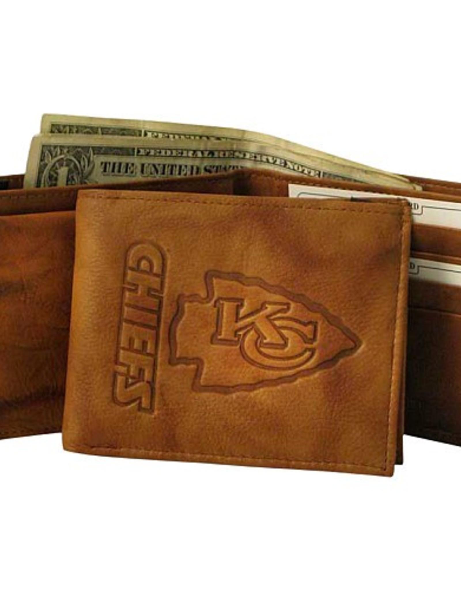 RICO INDUSTRIES Kansas City Chiefs Genuine Leather Vintage Billfold Wallet