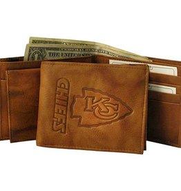 Kansas City Chiefs Genuine Leather Vintage Billfold Wallet