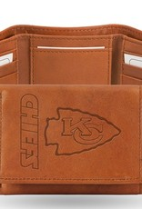 RICO INDUSTRIES Kansas City Chiefs Genuine Leather Vintage Trifold Wallet