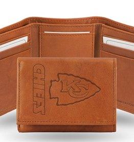 Kansas City Chiefs Genuine Leather Vintage Trifold Wallet