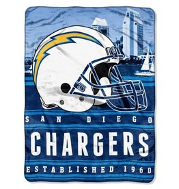 NORTHWEST Los Angeles Chargers 60in x 80in Silk Touch Throw Wrap