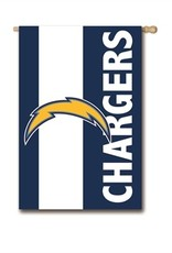 """EVERGREEN Los Angeles Chargers 28"""" x 44"""" Striped House Flag"""