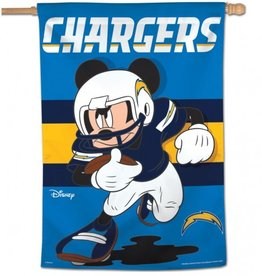 "WINCRAFT Los Angeles Chargers Disney Mickey Mouse 28"" x 40"" House Flag"