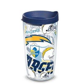 Los Angeles Chargers 16oz Tervis All Over Print Tumbler