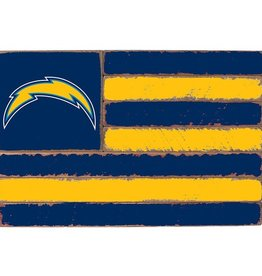 RUSTIC MARLIN Los Angeles Chargers Rustic Team Flag