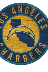 FAN CREATIONS Los Angeles Chargers Round State Sign