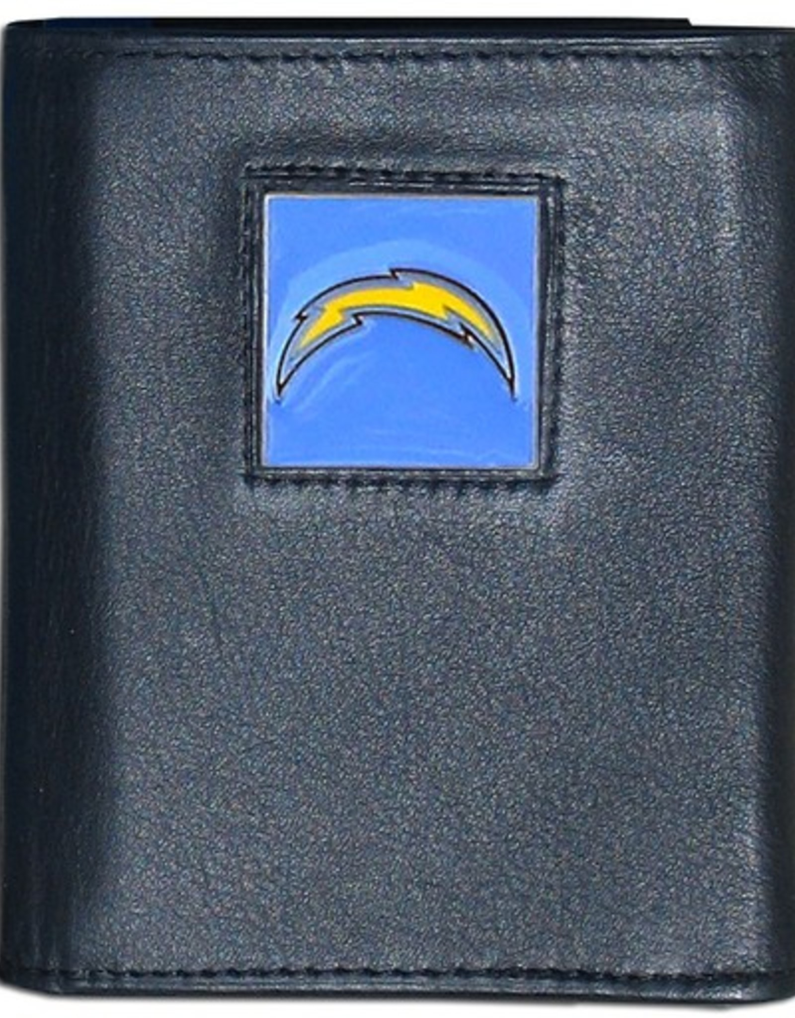SISKIYOU GIFTS Los Angeles Chargers Executive Black Leather Trifold Wallet