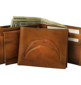 Los Angeles Chargers Genuine Leather Vintage Billfold Wallet