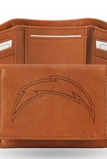 RICO INDUSTRIES Los Angeles Chargers Genuine Leather Vintage Trifold Wallet