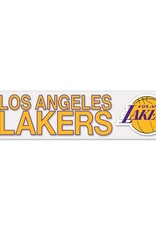 "WINCRAFT Los Angeles Lakers 4""x17"" Perfect Cut Decals"