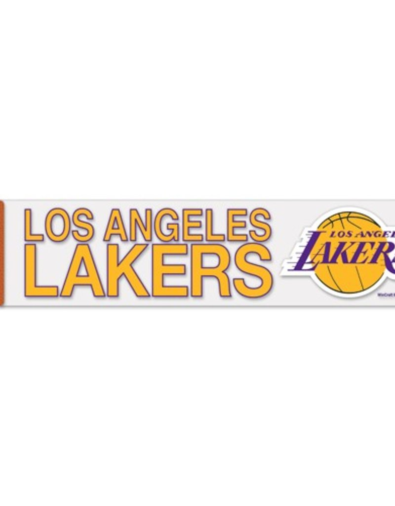 """WINCRAFT Los Angeles Lakers 4""""x17"""" Perfect Cut Decals"""